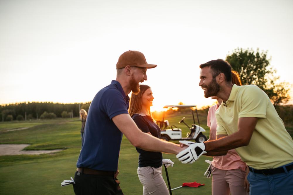 ゴルフで仲良く